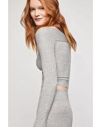 BCBGeneration Off The Shoulder Crop Sweater