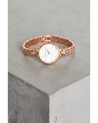 BCBGeneration - Rose Gold-tone Crystal Bracelet Watch - Lyst