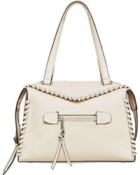 BCBGeneration - Aubry Faux-leather Whipstitch Satchel - Lyst