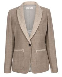 Paul Smith Taupe And Natural Wool-Flannel Blazer brown - Lyst