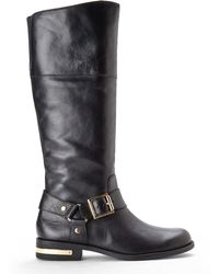 Vince Camuto Black Callie Leather Boots - Lyst