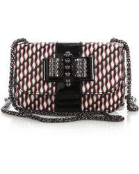 Christian Louboutin Sweety Charity Shoe-Print Crossbody Bag black - Lyst