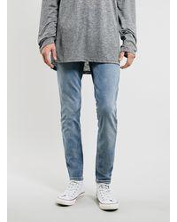 Topman Light Wash Stretch Skinny Jeans - Lyst
