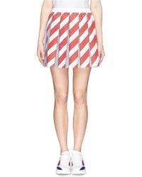 Anna K Stripe Pleat Skirt multicolor - Lyst
