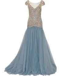 Marchesa Embellished Tulle Gown - Lyst