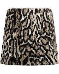 Just Cavalli Leopard Print Studded Pelmet Skirt - Lyst