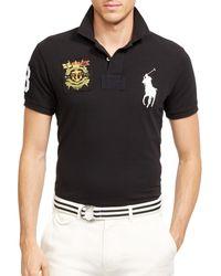 Ralph Lauren Polo Custom Big Pony Mesh Polo Shirt - Slim Fit - Lyst