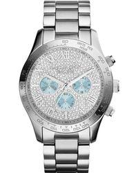 Michael Kors Womens Chronograph Layton Stainless Steel Bracelet Watch 44mm - Lyst