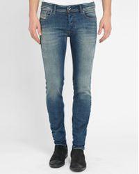 DIESEL   Faded Blue Washed Sleenker Slim-fit Jeans   Lyst