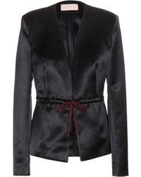 Christopher Kane Drawstring Waist Silk-Blend Jacket - Lyst