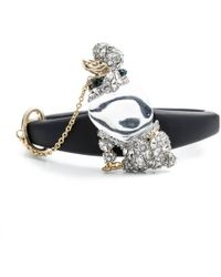 Alexis Bittar Jelly Belly Poodle Hinge Bracelet white - Lyst