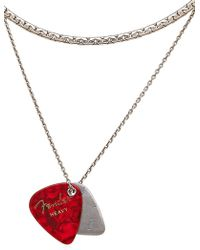 Laura B - Guitar Pick Charms Brass & Silver Chain - Lyst