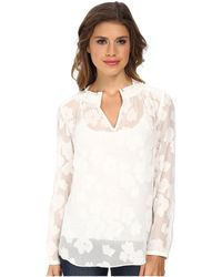 Rebecca Taylor Long Sleeve Fil Coupe Top - Lyst