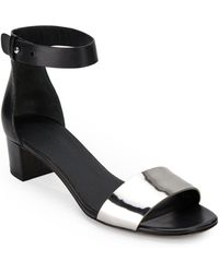 Vince Remy Metallic Leather Sandals - Lyst
