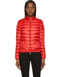 Moncler Red Quilted Down Lans Jacket - Lyst