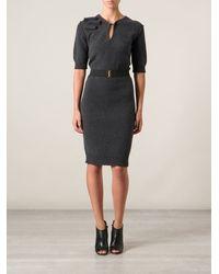 Lanvin Knit Belted Dress - Lyst