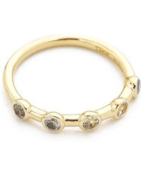 Elizabeth And James Jean Ring - Gold/Clear - Lyst