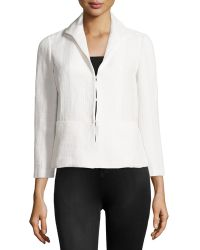 Lafayette 148 New York Textured Piped Jacket - Lyst
