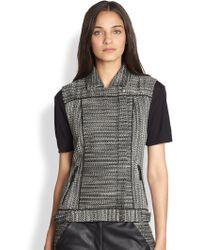 Addison - Woven Tweed Moto Vest - Lyst
