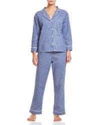 Marigot Collection - Marigot Navy Caning Long Pajama Set - Lyst