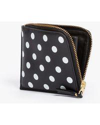Comme des Garçons Polka Dots Half Zip Wallet black - Lyst