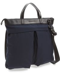Burberry Men'S 'Bridger' Nylon Tote - Blue - Lyst