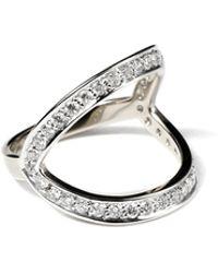 Ara Vartanian White Diamond Ring white - Lyst