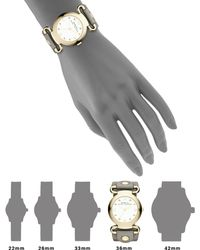 Marc By Marc Jacobs Molly Goldtone Stainless Steel & Leather Strap Watch - Lyst