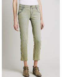 Free People Womens Lost Love Lace Up Skinny - Lyst