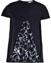 Balenciaga Black Marble-Printed Top - Lyst