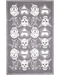 Alexander McQueen | Skull Tattoo Silk Chiffon Scarf | Lyst