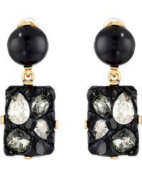 Oscar de la Renta Diamond Rock C Earrings - Lyst