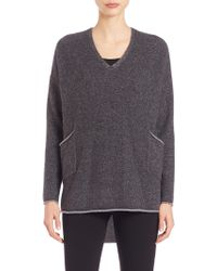 Eileen Fisher | Cashmere V-neck Tunic | Lyst