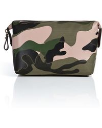 Valentino Leathercanvas Camo Print Large Cosmetic Case - Lyst