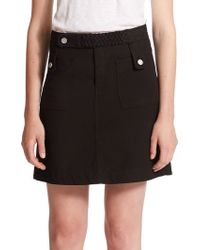 See By Chloé | Braided Woven Stretch-cotton Skirt | Lyst