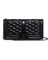 Rebecca Minkoff 'Love Clutch' Quilted Leather Bag - Lyst
