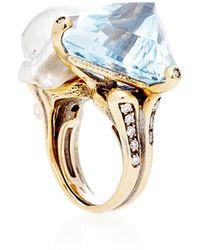 Helen Yarmak International - One Of A Kind Aquamarine and Cultured Baroque Ring - Lyst