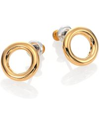 Marc By Marc Jacobs Doughnut Stud Earrings/Goldtone - Lyst