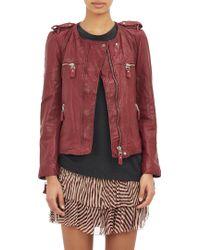 Etoile Isabel Marant Kady Washed Leather Moto Jacket - Lyst