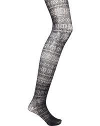 Forever 21 Tribal Pattern Fishnet Tights - Lyst