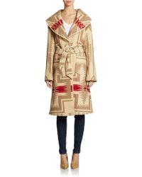 Pendleton Wool Aztec Blanket Coat - Lyst