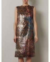 Preen Snakeshell Print Sleeveless Dress - Lyst