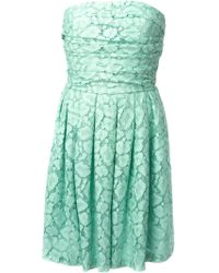 Moschino Cheap & Chic Lace Strapless Dress - Lyst