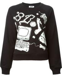 Moschino Cheap & Chic Accessories Print Sweatshirt - Lyst