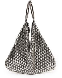 Whiting & Davis Deco Triangles Bag  Blacksilver - Lyst