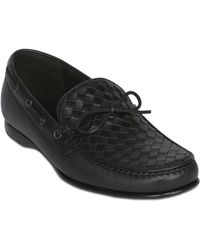 Bottega Veneta Hand Woven Nappa Leather Loafers - Lyst