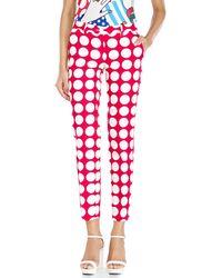 Love Moschino Polka Dot Trousers - Lyst