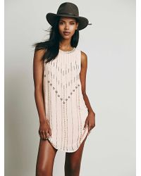 Free People Womens Carmens Embellished Shift - Lyst
