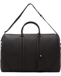 Givenchy - Black Leather Weekender Bag - Lyst