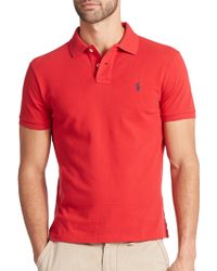 Polo Ralph Lauren Custom-Fit Mesh Polo red - Lyst